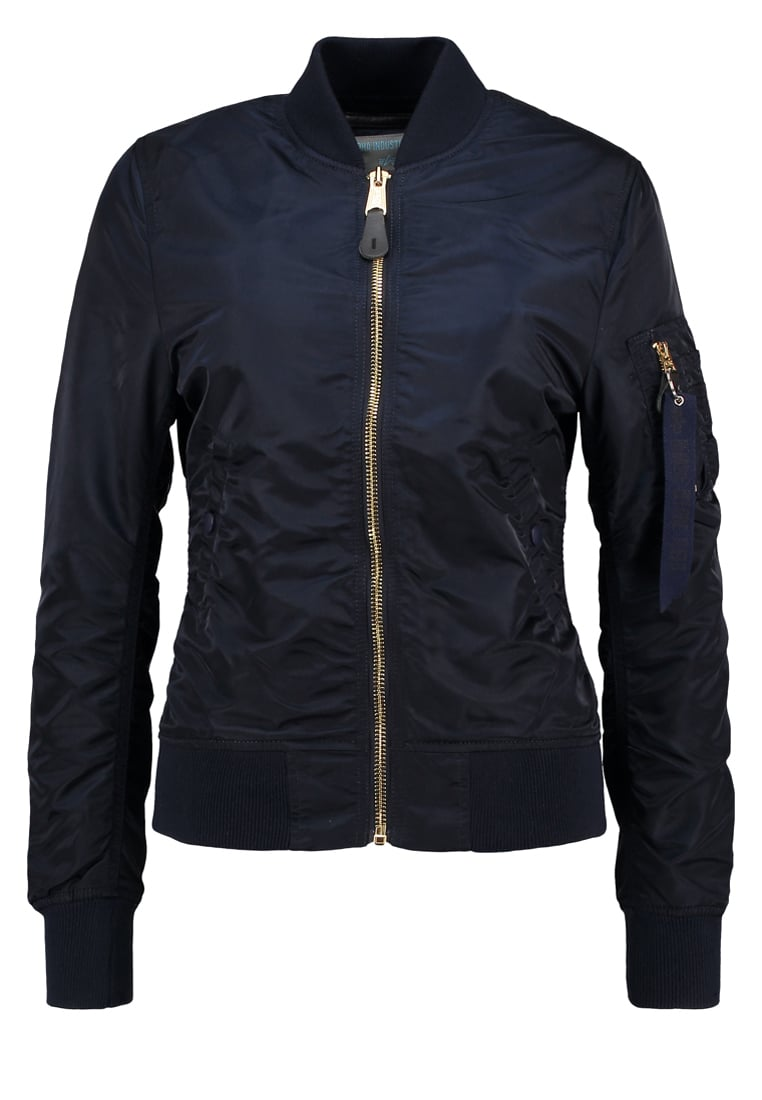 Alpha Industries Kurtka Bomber blue/gold - 156001