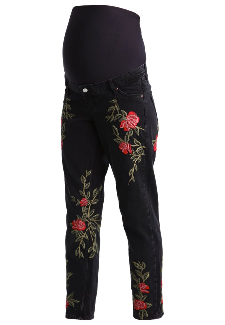 Topshop Maternity ROSE Jeansy Relaxed fit washedblack - 44J75LWBK