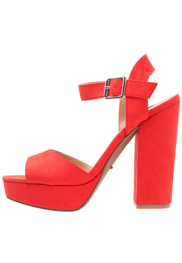 ONLY SHOES ONLALLIE Sandały na obcasie red - 15157175