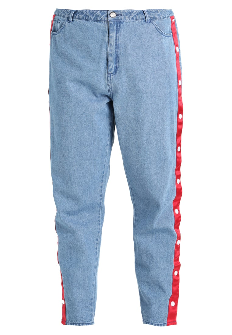 Daisy Street Plus POPPER MOM Jeansy Relaxed Fit mid blue - SRB140PLUS