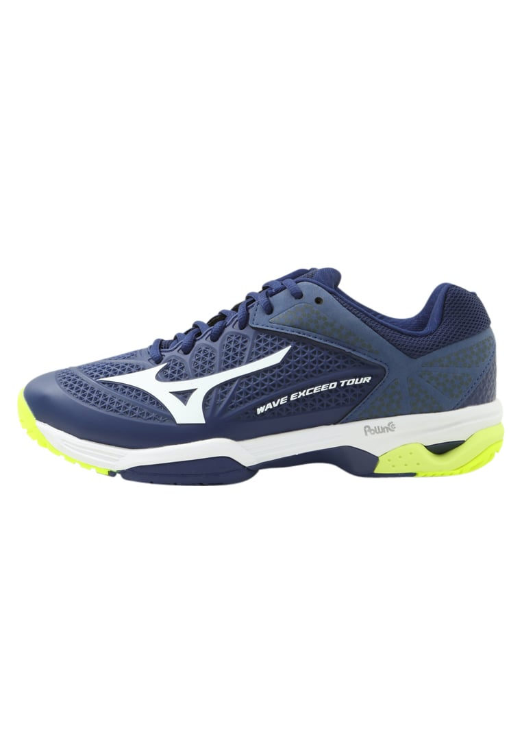 Mizuno WAVE EXCEED TOUR 2 ALLCOURT Buty do tenisa Outdoor bluedepths/white/dressblue - 61GA1670