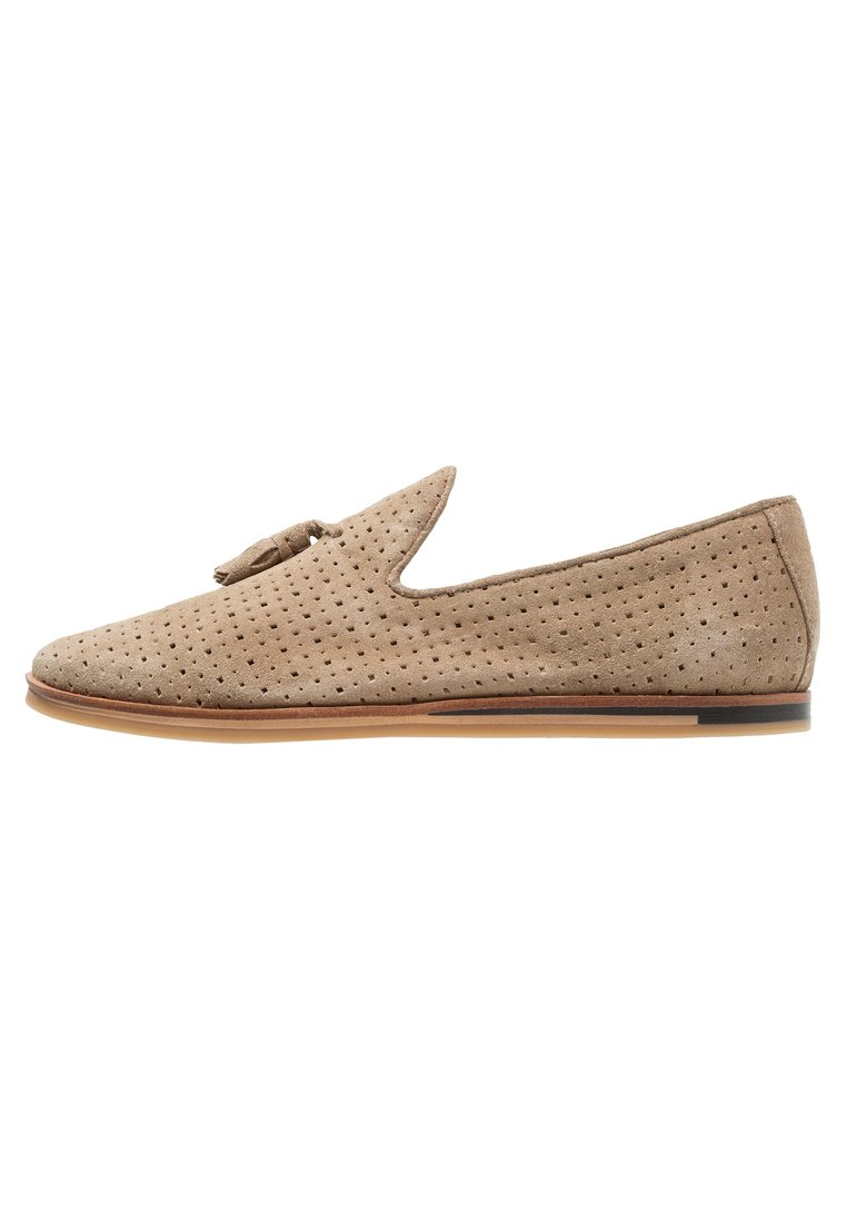 Walk London CHRIS LOAFER Półbuty wsuwane stone - 15179 - amended to have perf as per Harry 14284)