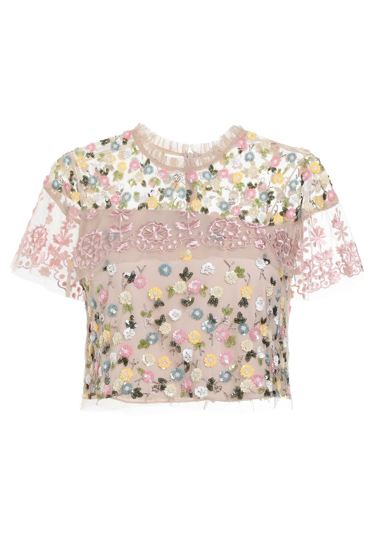 Needle & Thread TIERED ANGLAIS TOP Bluzka petal pink