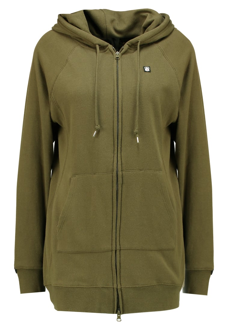 Obey Clothing ASTOR PLACE ZIP Bluza rozpinana army - 211640023