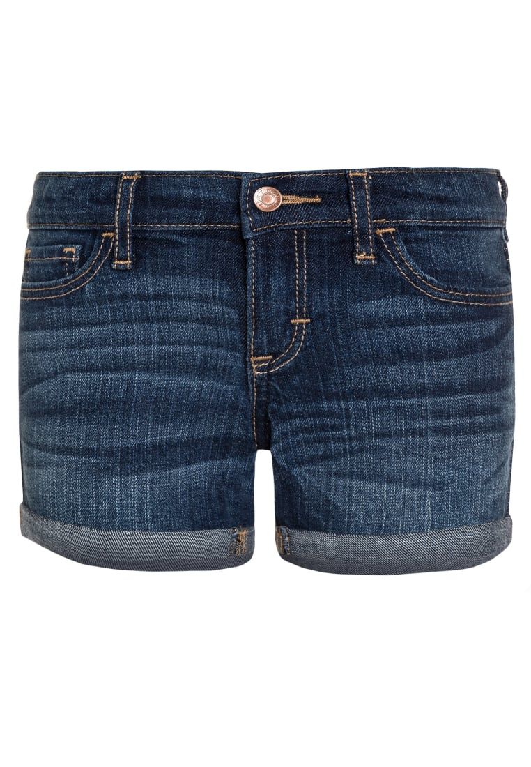 Abercrombie & Fitch Szorty jeansowe medium dark - KI249-7010