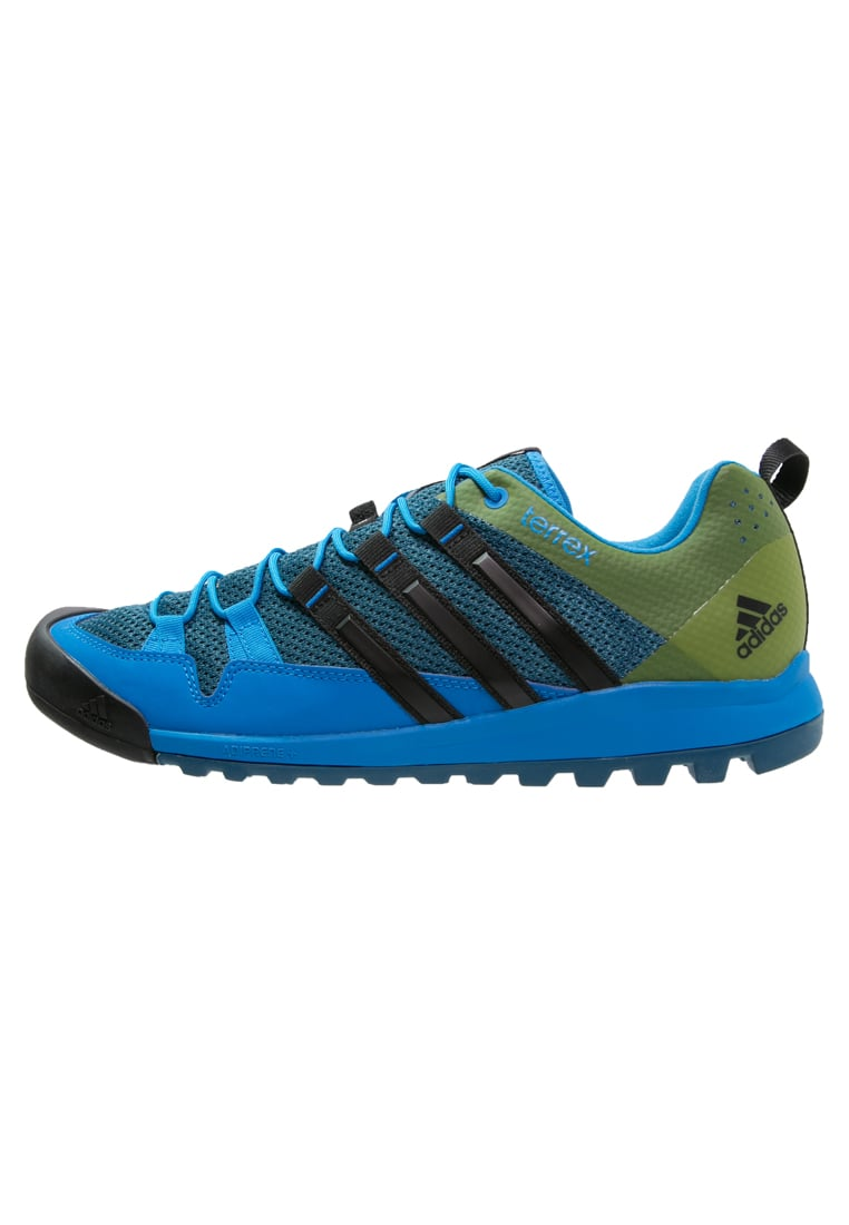 adidas Performance TERREX SOLO Buty wspinaczkowe tech steel/core black/blanch blue - IUV83