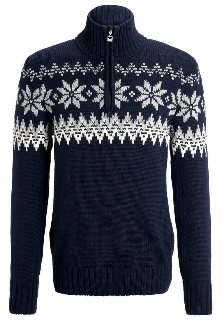 Dale of Norway MYKING Sweter navy/off white/light charcoal - 93141