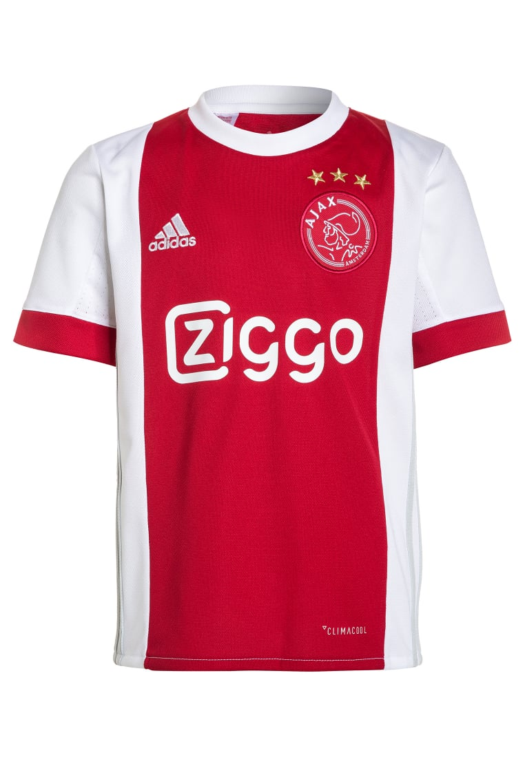 adidas Performance AJAX AMSTERDAM HOME Artykuły klubowe white/bold red - BWM46