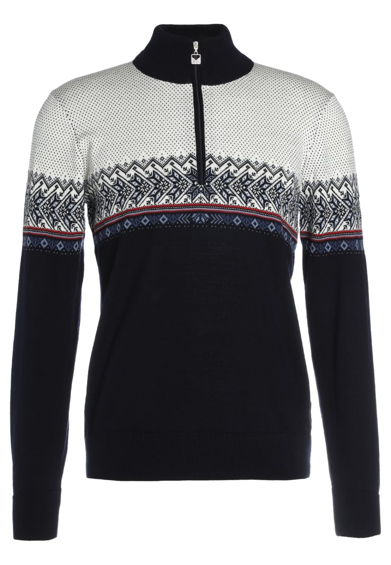 Dale of Norway HOVDEN Sweter navy/blue shadow/indigo/raspberry/off white - 93441