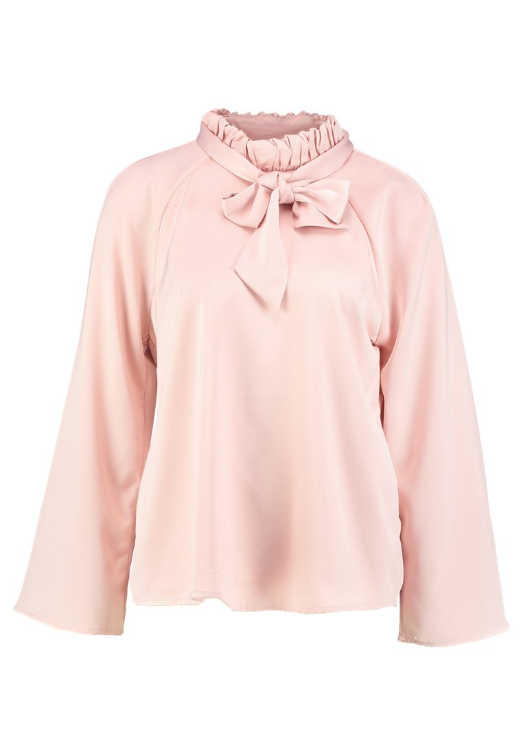 Cortefiel BLOUSE WITH GATHERED COLLAR AND BACK TIE DETAIL Tunika rose - 5702879