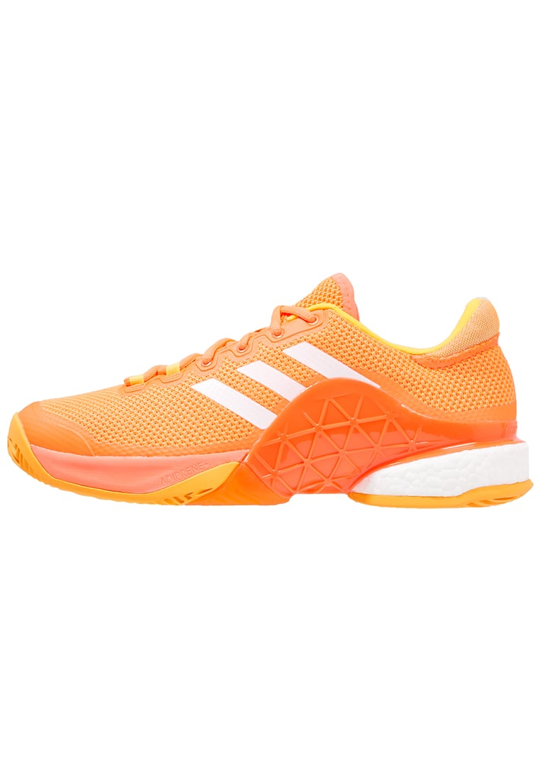 adidas Performance BARRICADE 2017 BOOST Buty do tenisa Indoor glow orange/white/solar gold - KDC14