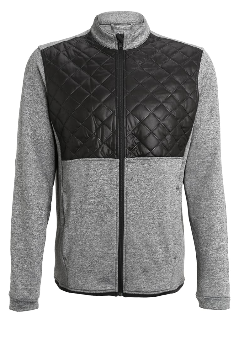 adidas Golf Kurtka z polaru dark grey heather/black - AF2721