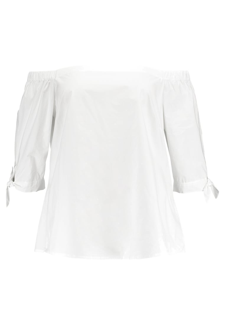 City Chic COLD SHOULDER Bluzka white - 00124564