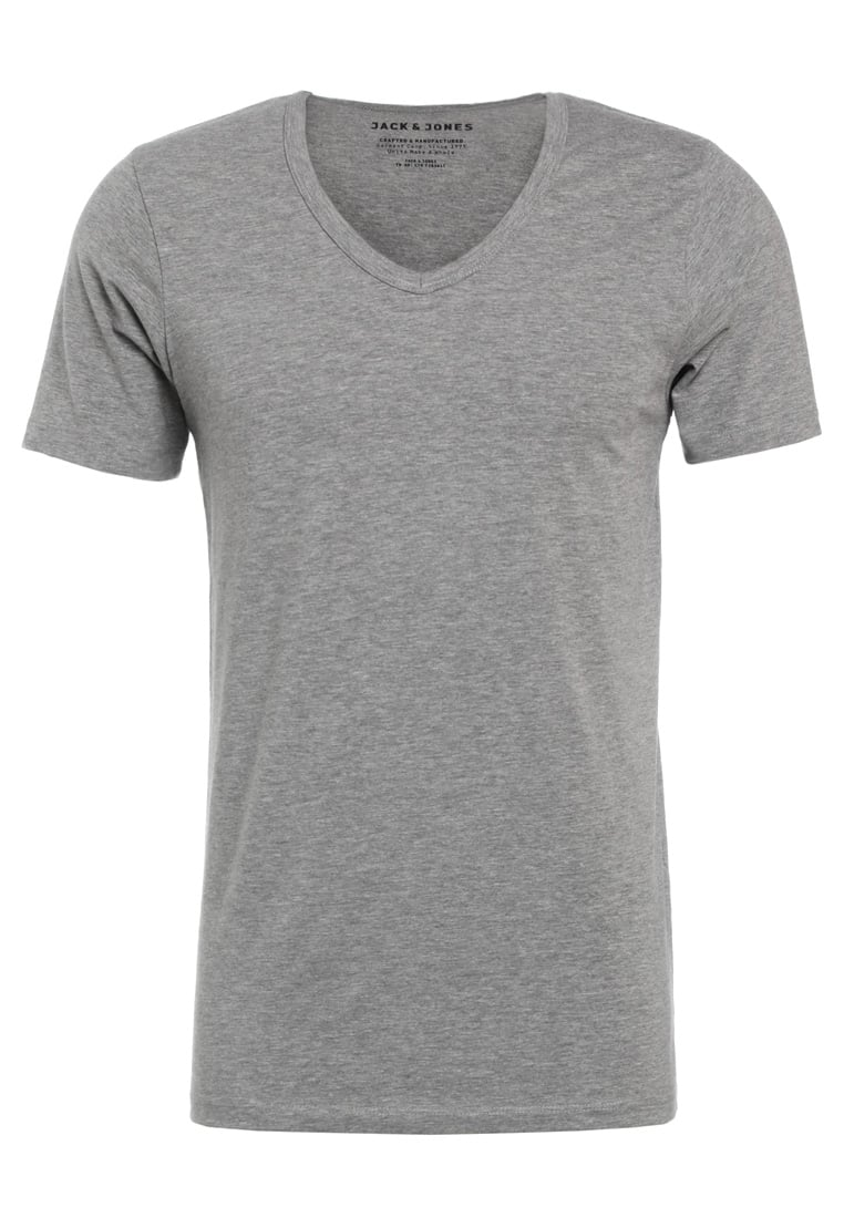 Jack & Jones BASIC VNECK Tshirt basic grey - 12059219