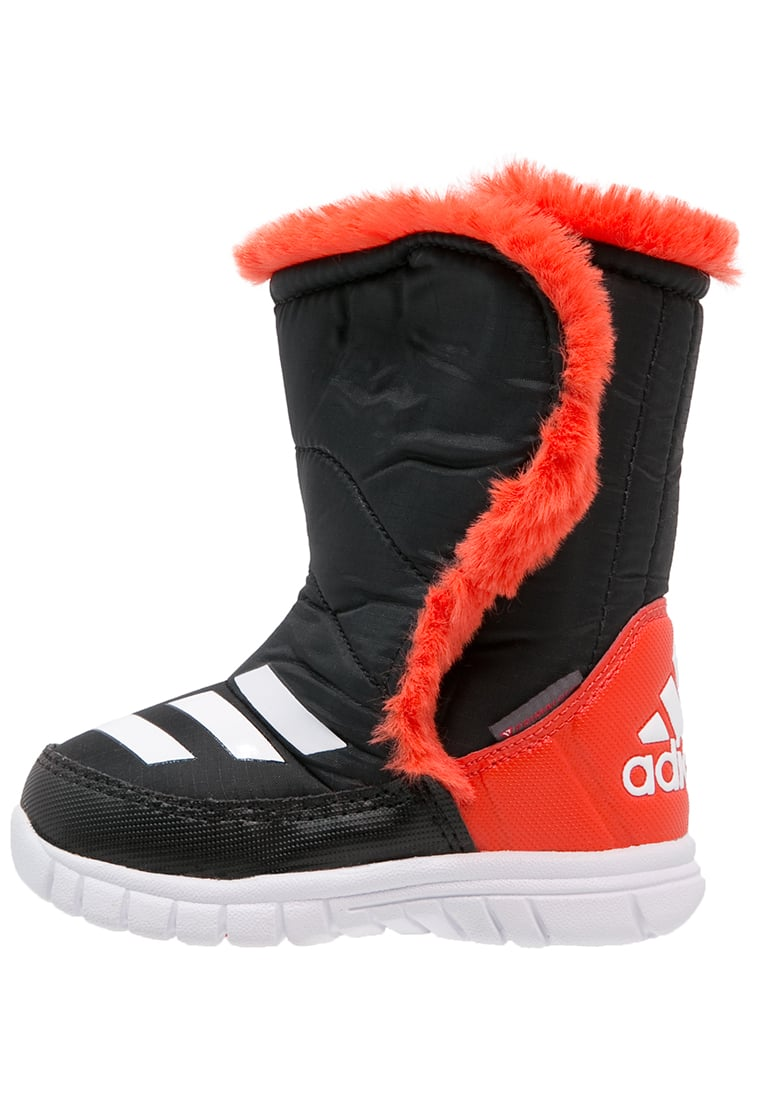 adidas Performance LUMILUMI Śniegowce core black/white/bold orange - KDW69
