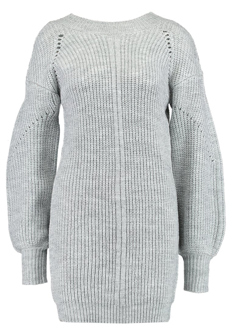 Fashion Union ADROMEDA KNITTED DRESS Sukienka letnia grey marl - ILX100