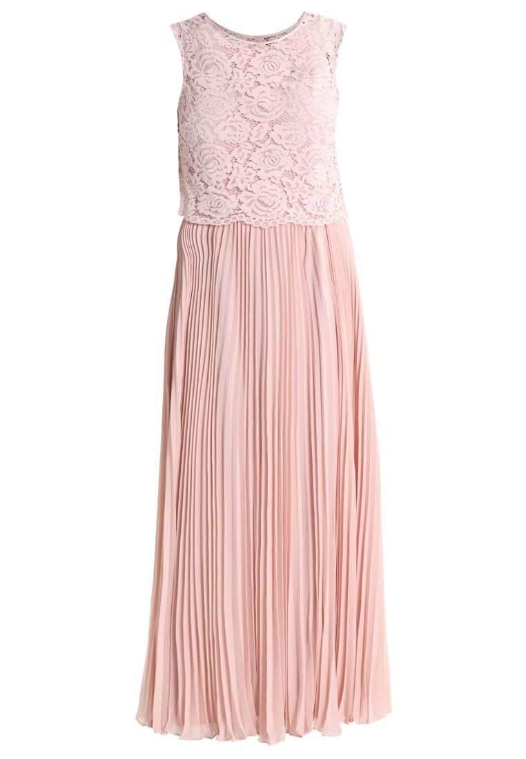 Oasis 2IN1 Długa sukienka blush pink - 2 IN 1 LACE BODICE MAXI DRESS
