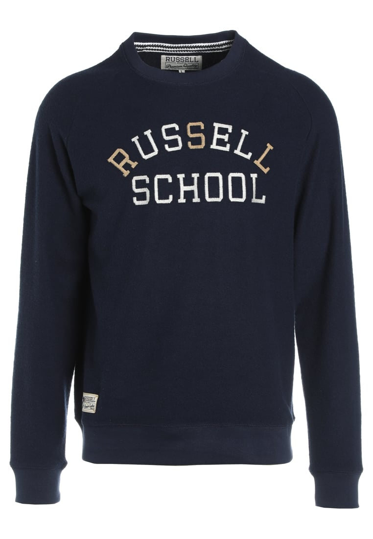 Russell Athletic SCHOOL CREW Bluza navy - A7-605-2