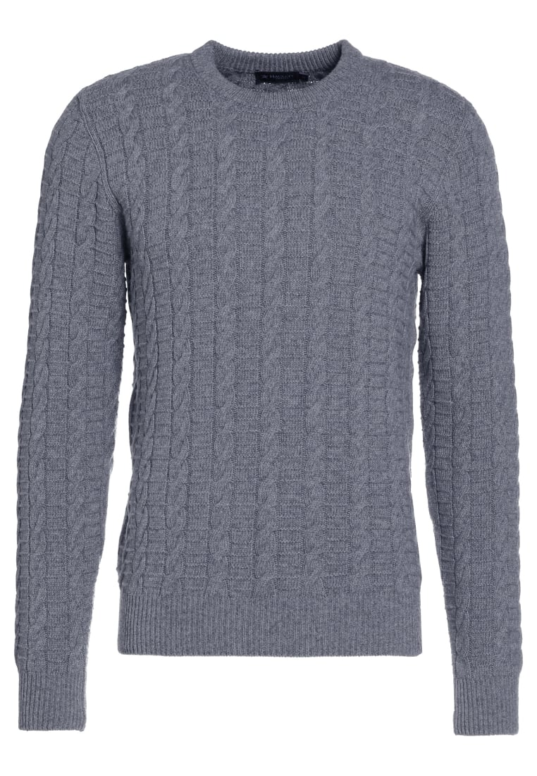 Hackett London CABLE CREW Sweter grey - HM701890