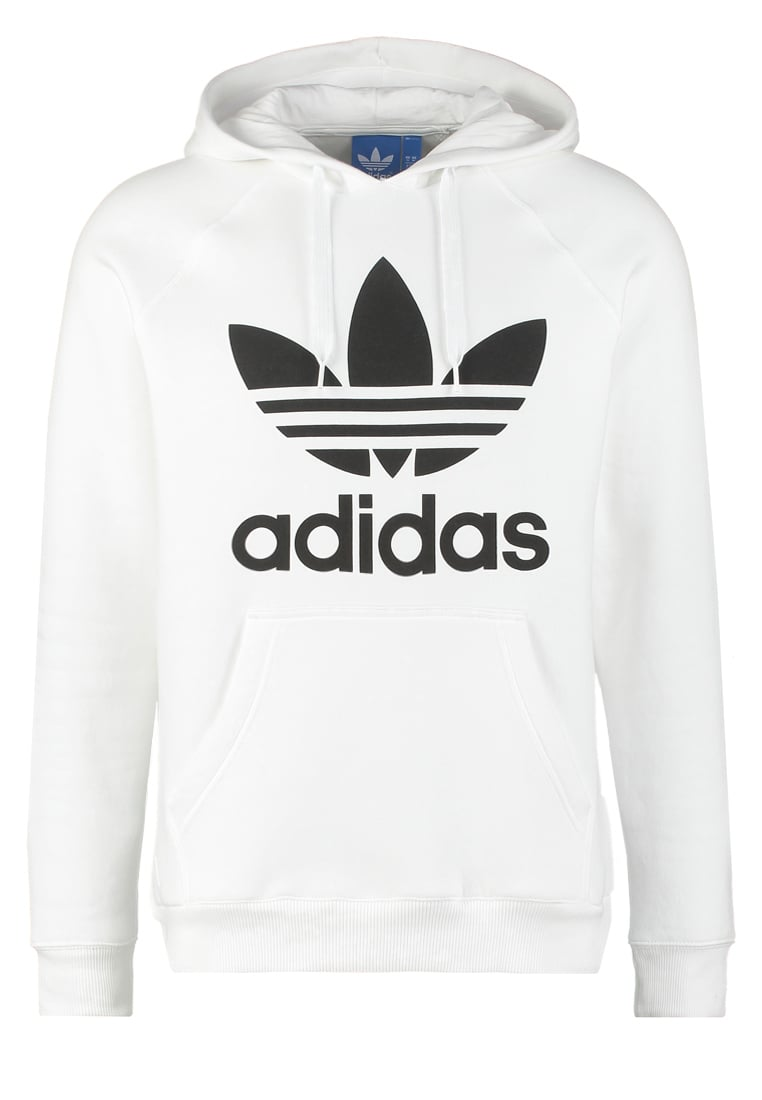 adidas Originals TREFOIL Bluza z kapturem white/black - ACC84