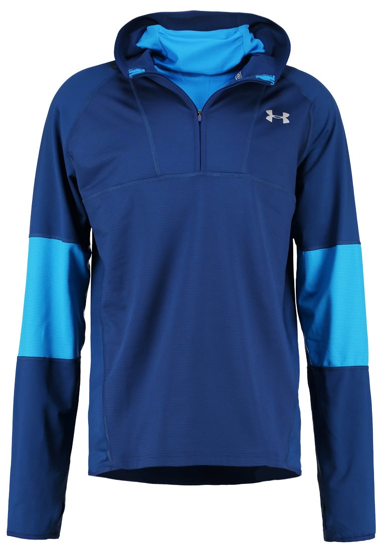 Under Armour NO BREAKS Bluza z polaru blackout navy/brilliant blue/reflective - 1285938