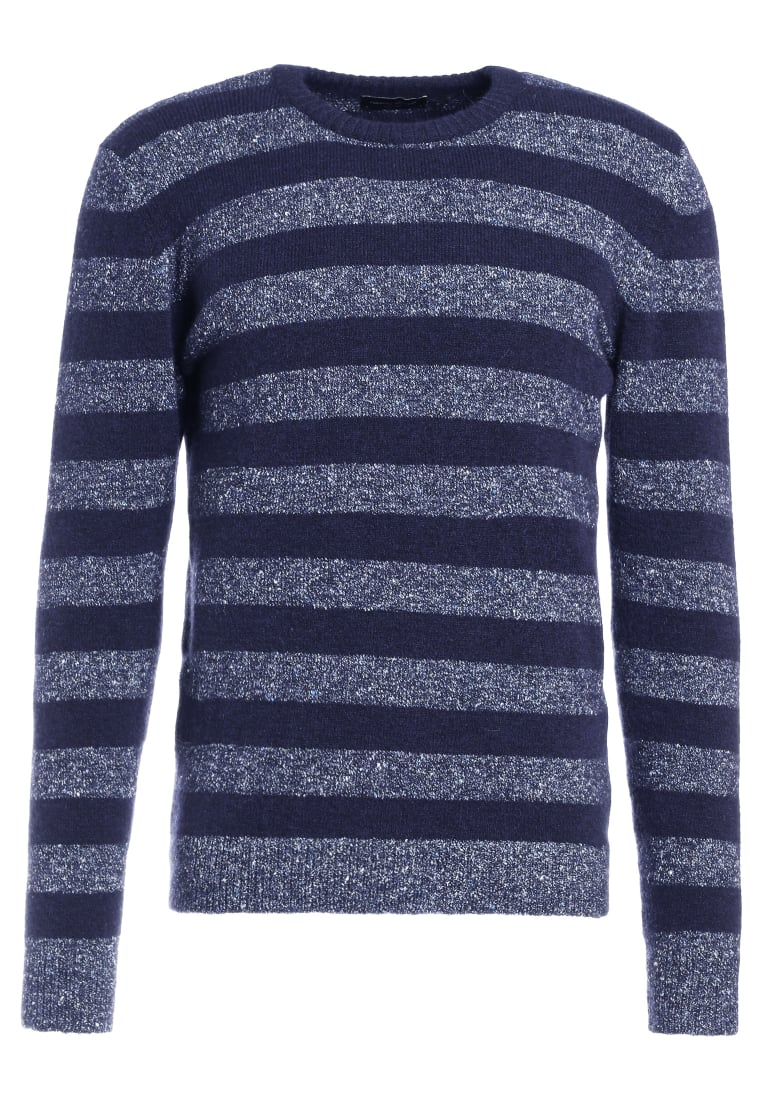 Roberto Collina STRIPED Sweter blue - RU 24001