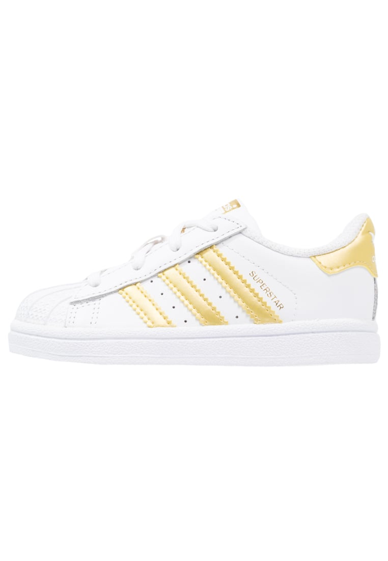 adidas Originals SUPERSTAR Buty do nauki chodzenia white/gold metallic - GTV00