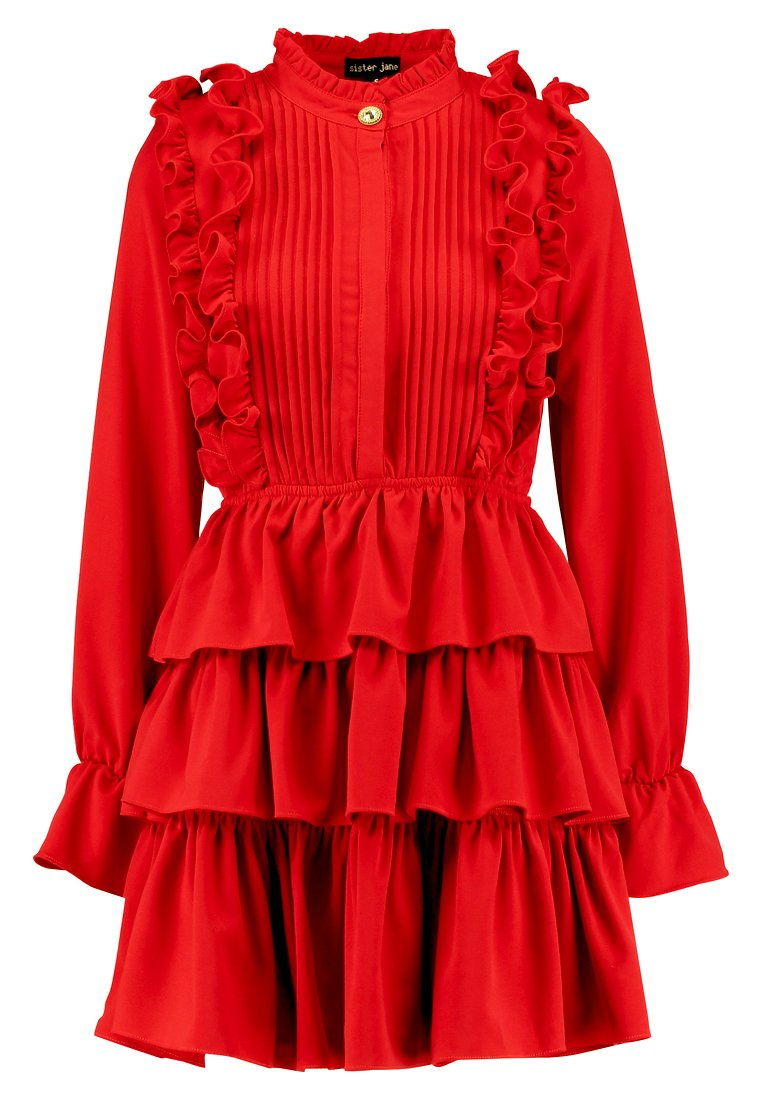 Sister Jane CERISE RUFFLE DRESS Sukienka koszulowa red - DR868RED