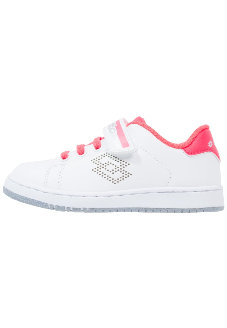 Lotto 1973 III CL SL Buty do tenisa Outdoor white/pink coral diva - S7906