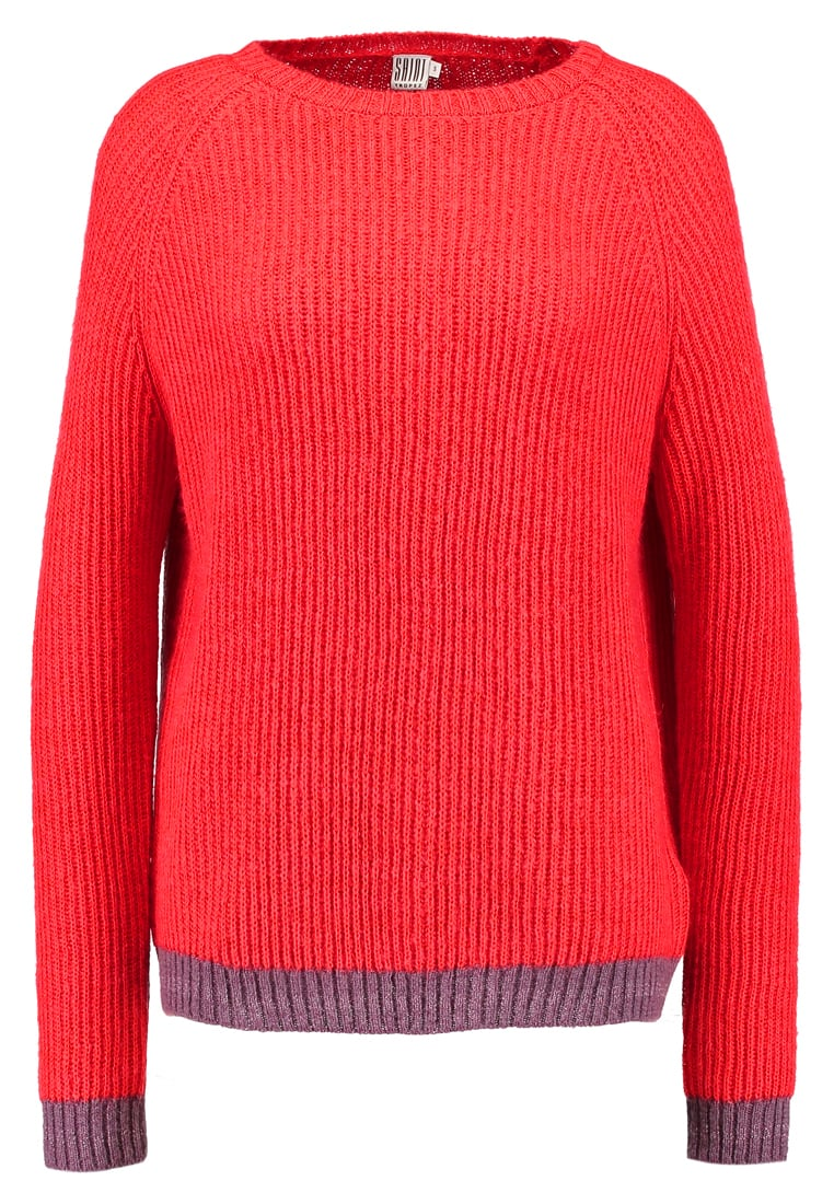 Saint Tropez KNIT WITH STRIPE  Sweter mottled red