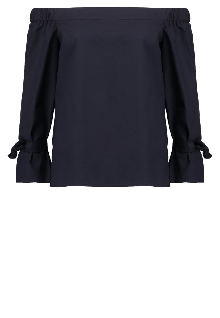 Warehouse Bluzka navy - Tie Strap Bardot Top