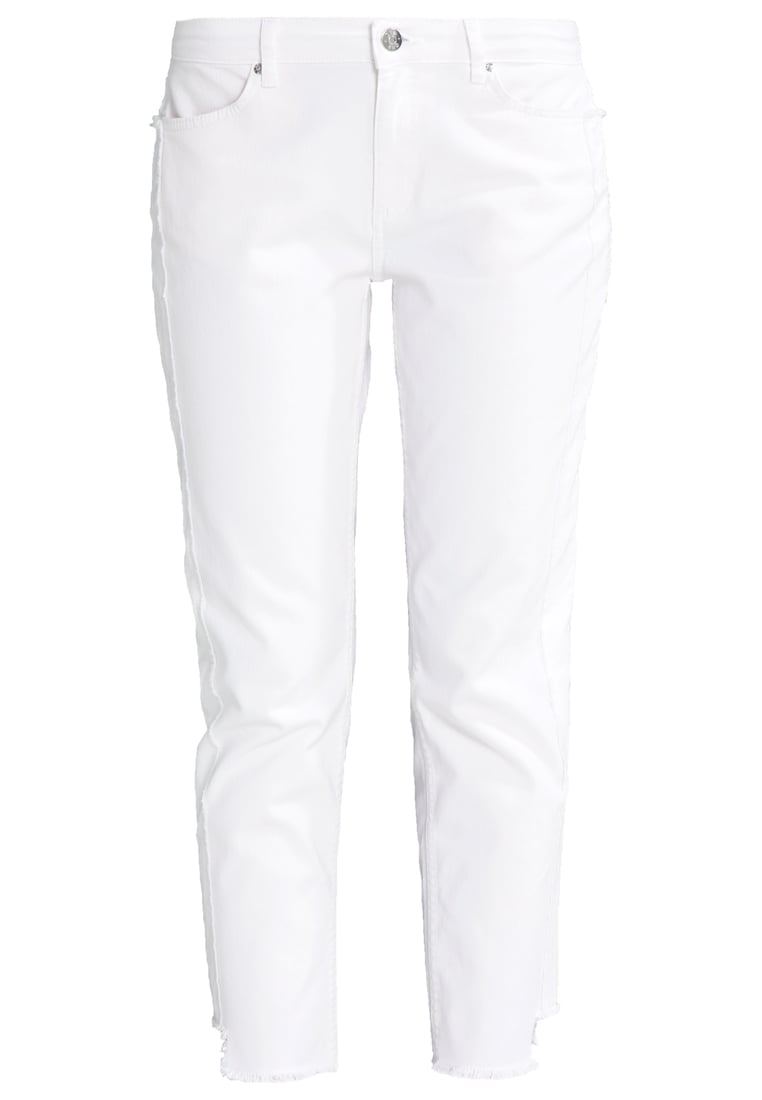 2ndOne MALOU Jeansy Relaxed Fit raw white - Malou Crop
