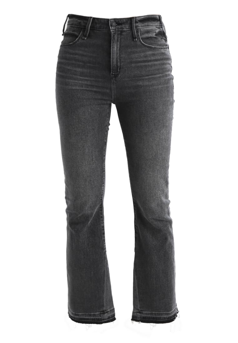 Abercrombie & Fitch ANKLE Jeansy Bootcut washed black - KI155-7222