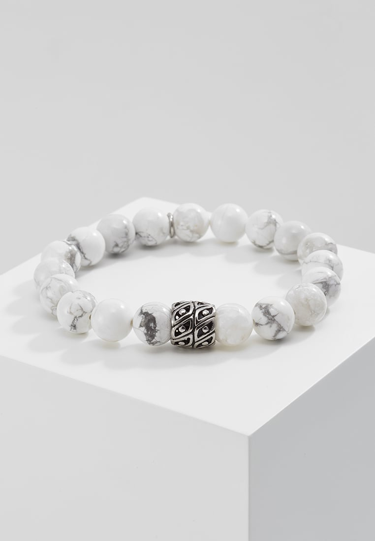 Royal Ego BEAD Bransoletka silvercoloured/white - 1243