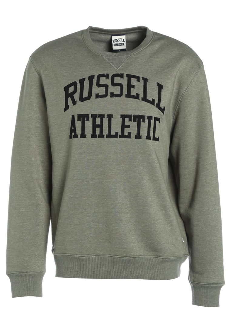 Russell Athletic CREW NECK TACKLE Bluza dustt olive marl - A7-005-2