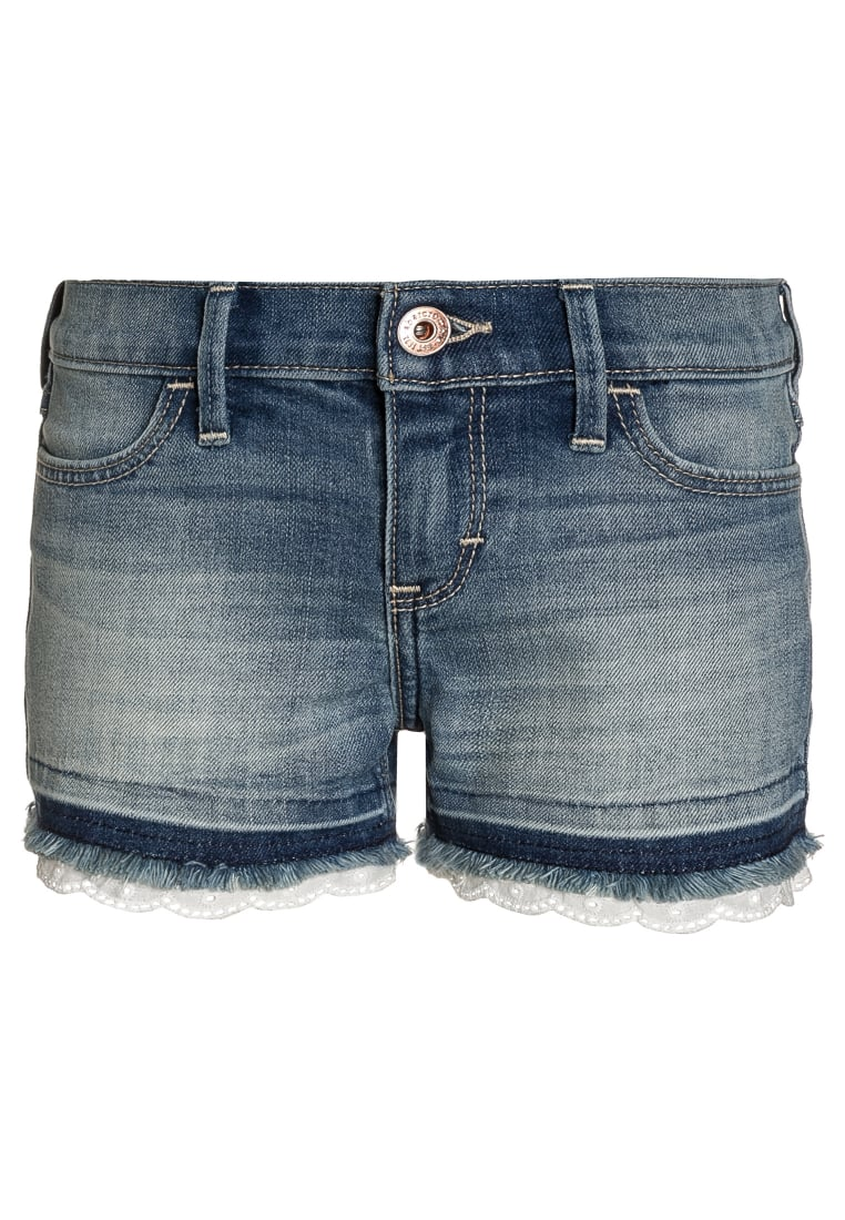 Abercrombie & Fitch Szorty jeansowe blue denim - KI249-7003