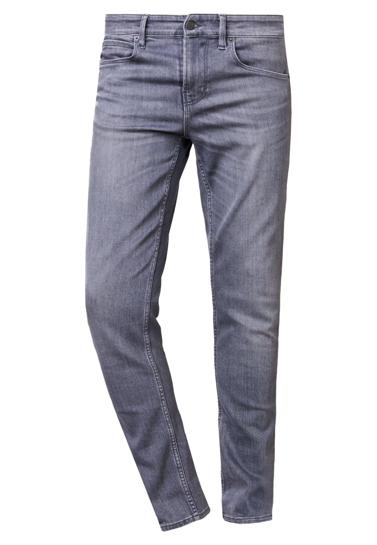 BOSS Orange ORANGE Jeansy Slim fit grey denim - 50373242