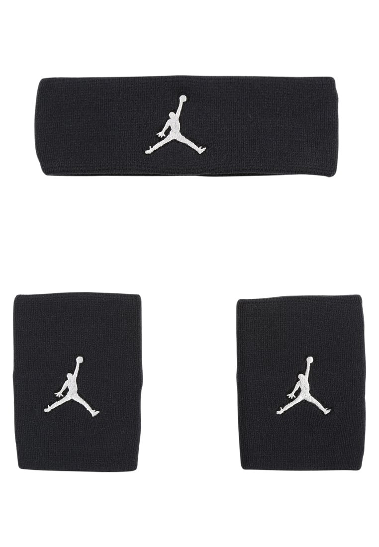 Jordan JUMPMAN SET Opaska z froty black/white - 9010 -6