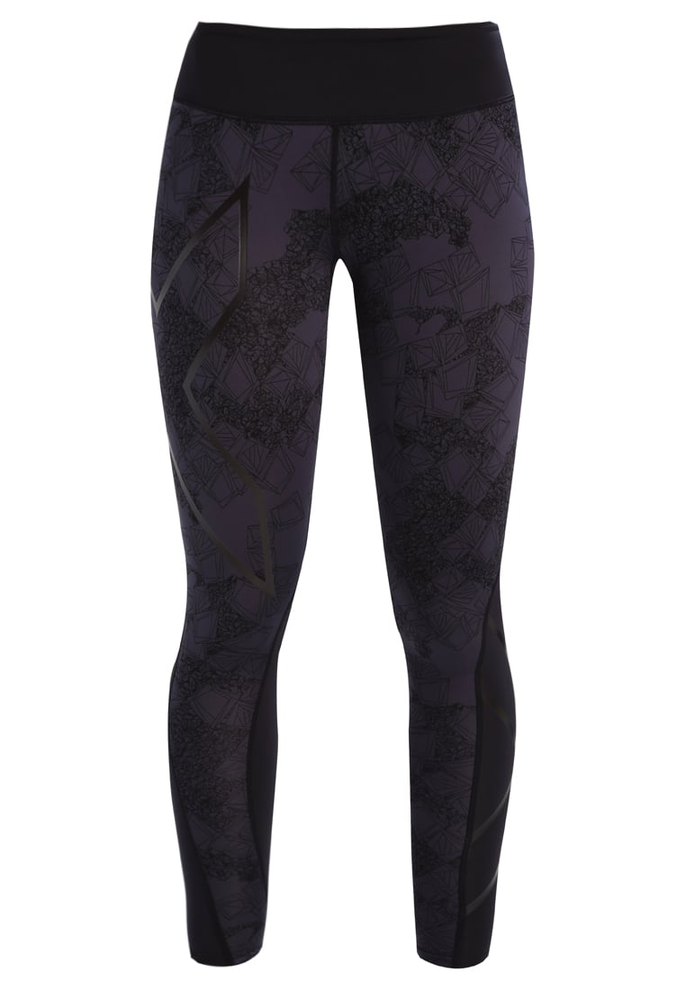 2XU Legginsy black/prism steel - WA3842b