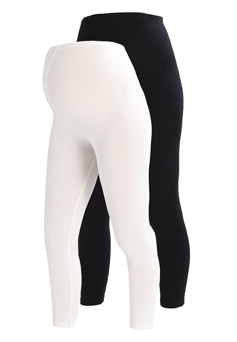 MAMALICIOUS 2 PACK Legginsy black/white - 20006318