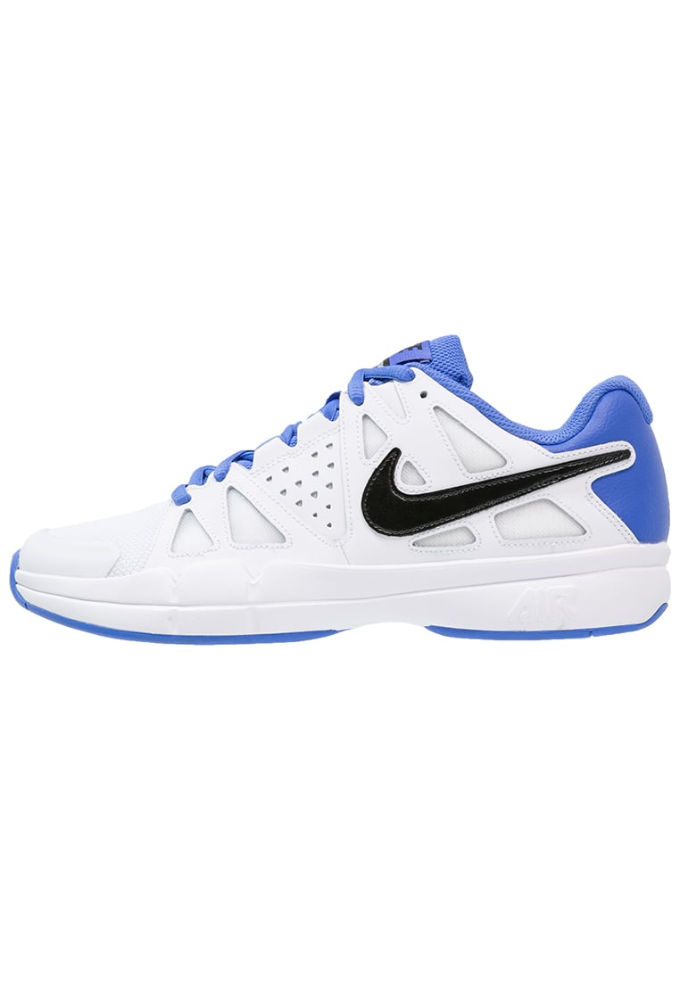 Nike Performance AIR VAPOR ADVANTAGE Buty do tenisa Outdoor white/black/medium blue - 599359