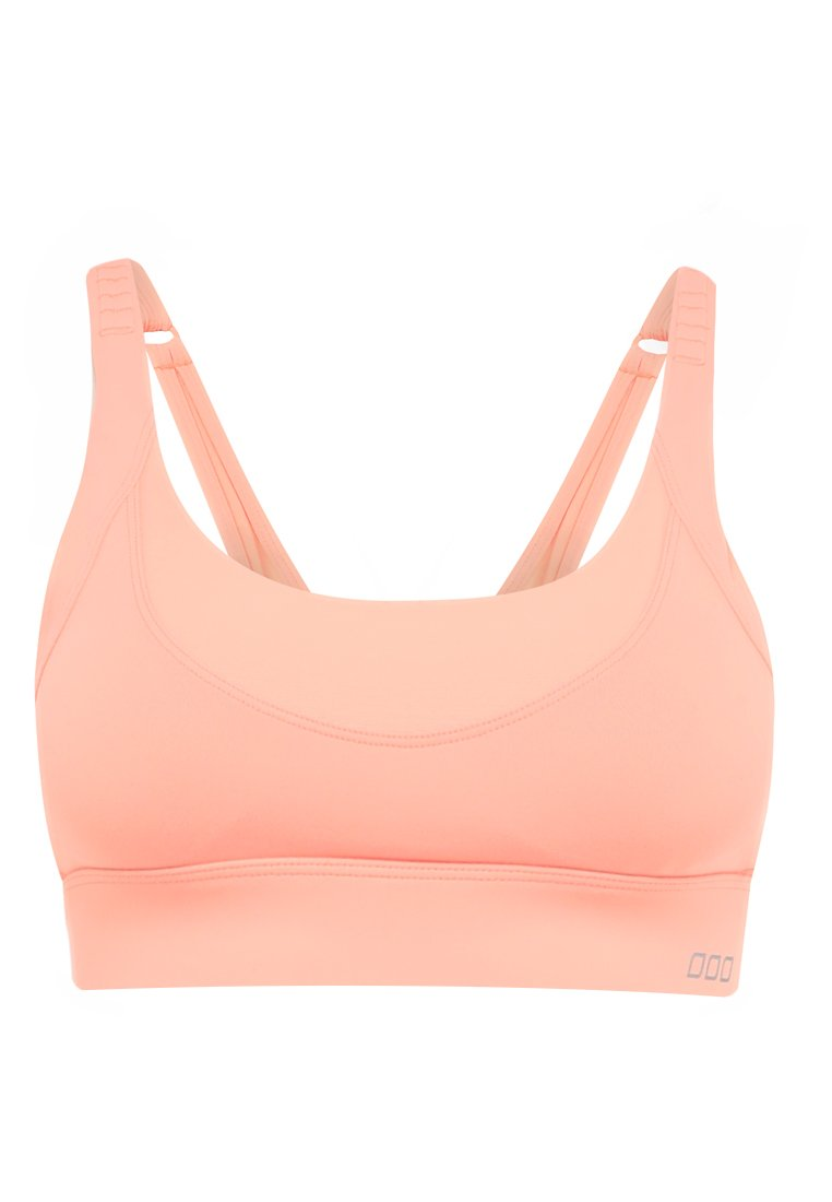 Lorna Jane HIGH INTENSITY SPORTS BRA Biustonosz sportowy neon peach melba - W011804