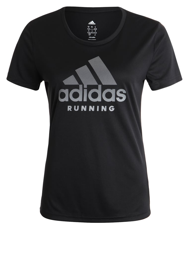 adidas Performance CATEGORY Tshirt z nadrukiem black - DTO57