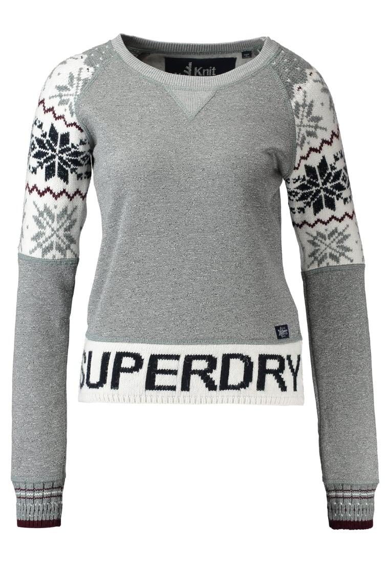 Superdry CHALET SNOW PANEL Sweter grey