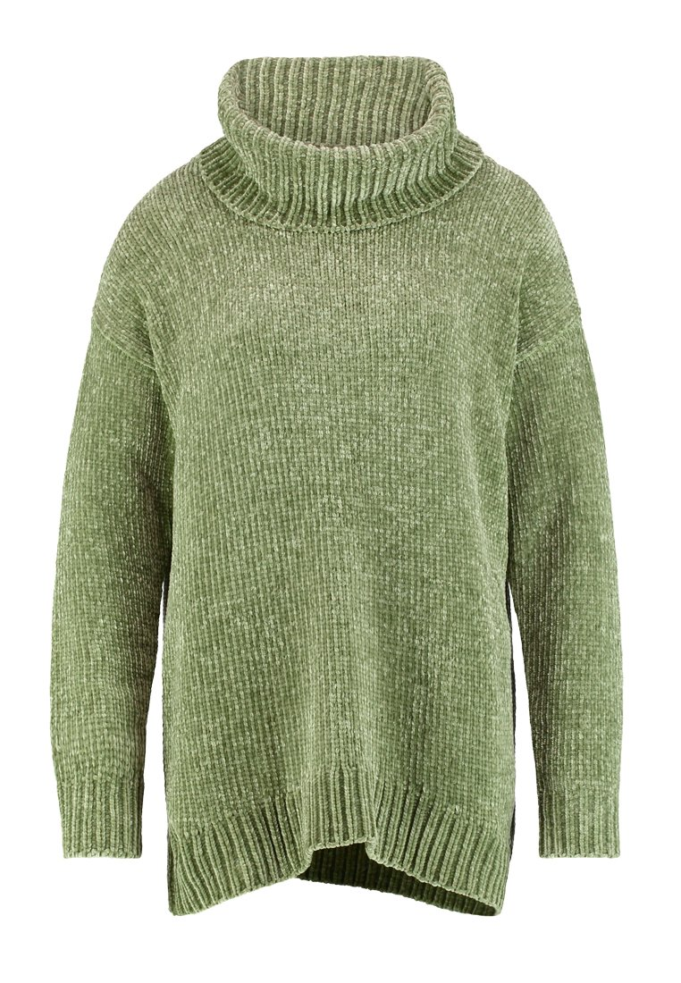Karen by Simonsen BAILY Sweter oil green - 10101354