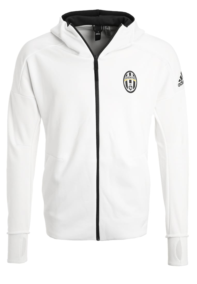 adidas Performance JUVENTUS TURIN ANTHEM Kurtka z polaru white/black - DMM06
