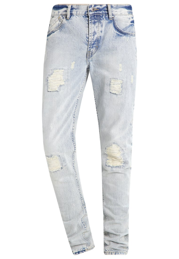 Publish DENNON Jeansy Relaxed fit distressed light indigo - P1601136