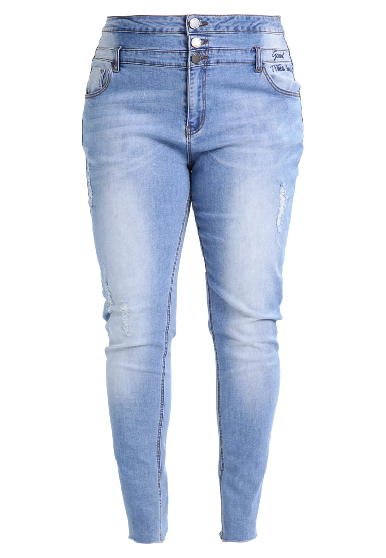City Chic JEAN HARLEY VIBES Jeansy Slim fit light indigo - 00126544