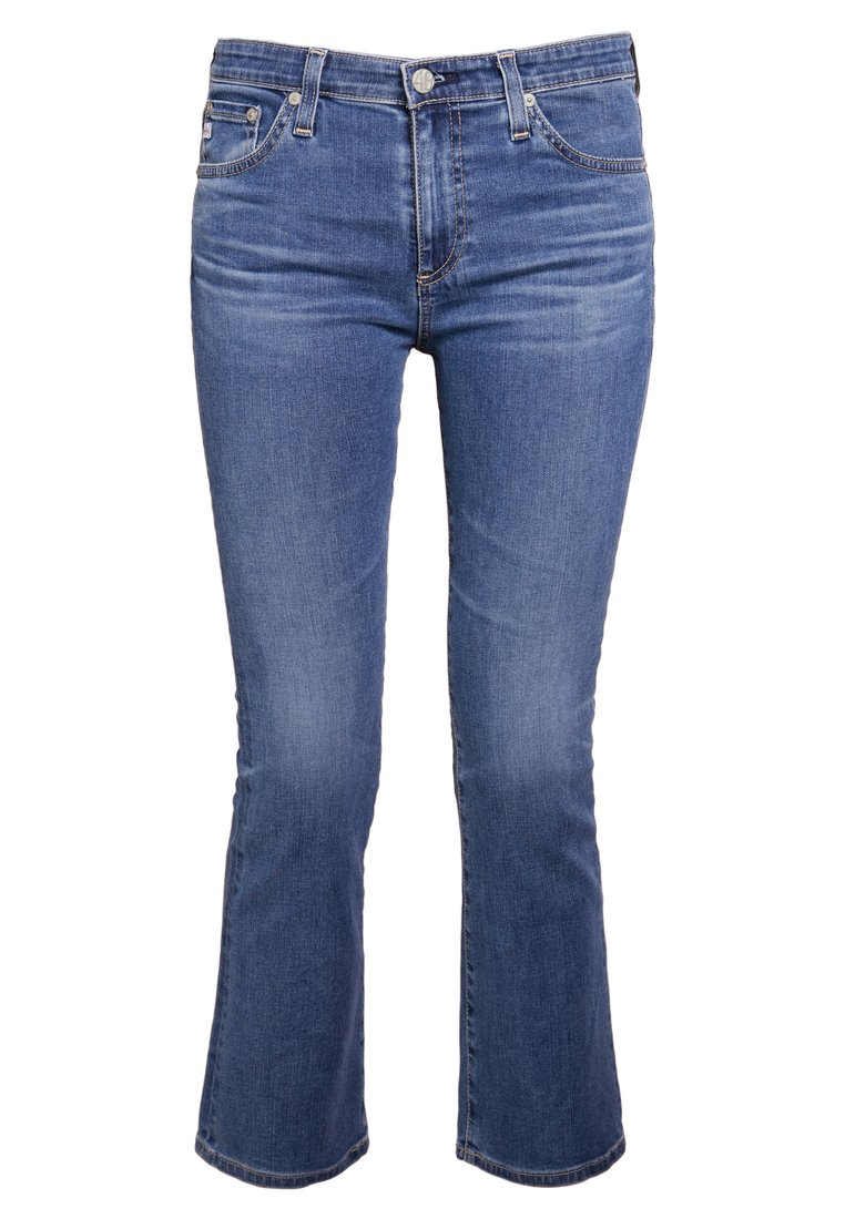 AG Jeans JODI CROPPED Jeansy Bootcut blue denim - REV1662