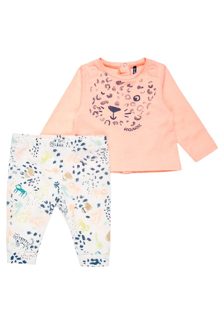 3 Pommes BABY JUNGLE SPRING TROUSERS SET Spodnie materiałowe orange fluo - 3L36001